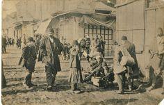 The main street in Bitola - Sirok Sokak (Wide street) during the  First Balkan War