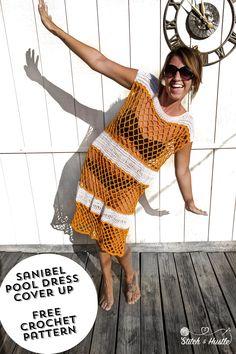 Sanibel Cover Up - Pool Dress Free Crochet Pattern — Stitch & Hustle