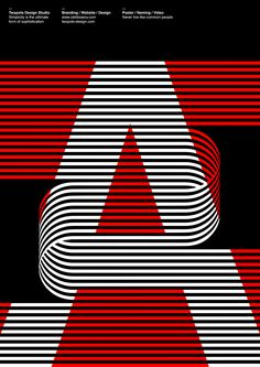 Poster by Xavier Esclusa Trias A / Twopots Design #ArtDirection #GraphicDesign #Typography