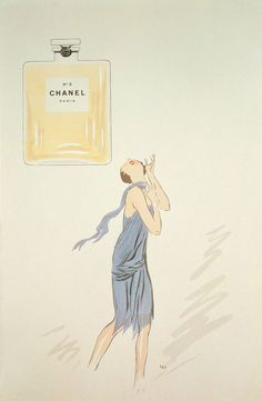 1 9 2 1 - illustrated ad. for Chanel No.5.
