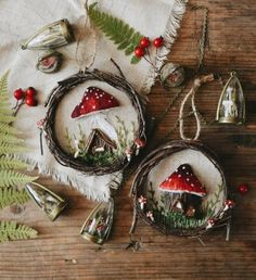 In this DIY tutorial, we will show you how to make Christmas decorations for your home. The video consists of 23 Christmas craft ideas. Christmas Wreaths, Christmas Crafts, Christmas Decorations, Christmas Ornaments, Holiday Decor, Wood Crafts, Diy And Crafts, Crafts For Kids, Arts And Crafts