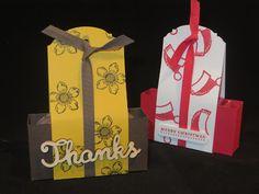 CraftyCarolineCreates: Tag Topper Gift Box, Video Tutorial, Ideal for Tea...