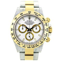 Want a great deal on the Rolex Daytona in steel & yellow gold with white dial Great service, great prices, visit GWS today. Rolex Daytona Steel, Rolex Daytona Stainless Steel, Rolex Daytona Watch, Rolex Watches For Men, Luxury Watches, Men's Watches, Der Gentleman, Rolex Air King, Rolex Gmt Master