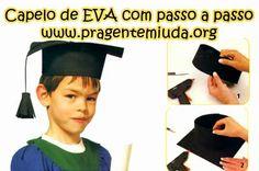 Passo a passo de capelo para formatura feito com EVA. Aprenda neste simples passo a passo a fazer um capelo para a formatura da sua turma!