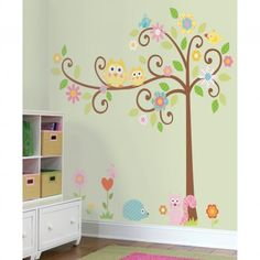 Mural for nursery...could change out some of the pink for a more boyish color for boys