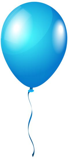 Single BlueBalloon PNG Clipart Image