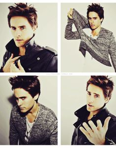 Jared Leto. His name makes me think of Jay Leno- biiiiiig difference.