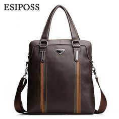 37.99$  Buy now - http://ali2te.shopchina.info/go.php?t=32731346510 - ESIPOSS Famous Brand Men Handbags 100% Cowhide Leather Men's Business Bag Mele Designer Leather Crossbody Shoulder Bags for Ipad 37.99$ #magazineonlinebeautiful