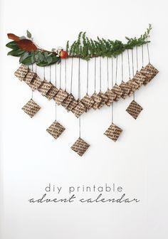 DIY Printable Advent