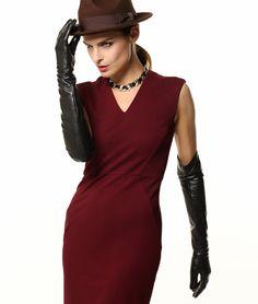 "** WARMEN Super Long 22"" Women Genuine Soft Nappa Leather Opera Gloves"