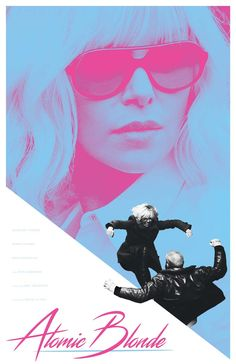 Atomic Blonde Film Poster by MikeSapienzaDesigns on Etsy https://www.etsy.com/listing/562458181/atomic-blonde-film-poster