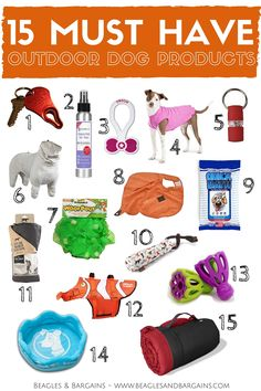 15 Must Have Outdoor Dog Products for some fun in the sun! | http://www.beaglesandbargains.com/15-outdoor-dog-products/