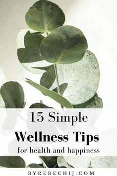 15 Simple Wellness Tips For A Healthy And Happy Life – by rebechij