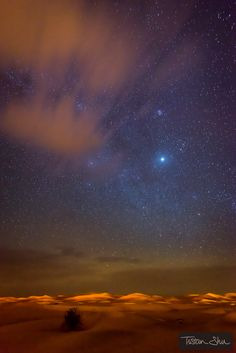 Starry night in the desert, Merzouga Desert, Marocco.  by Tristan Shu on 500px