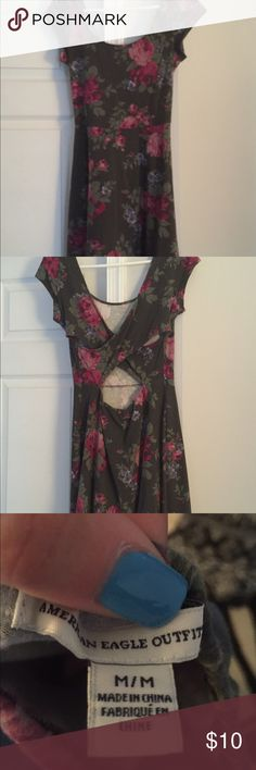 Cross-back Midi Dress Worn once. Comfy and cute! No rips/tears/stains! Comes to about mid-thigh! Plus it's super soft! American Eagle Outfitters Dresses Midi