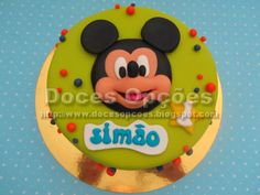 Doces Opções: Bolo com o Mickey