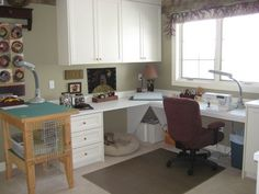 L-shape sewing space