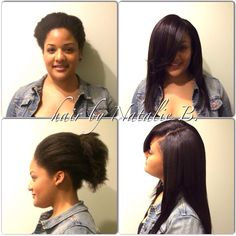 Natural hair???? NO PROBLEM! I specialize in creating the most natural-looking sew-in hair weaves with natural hair clients! Call or text me at 708-675-9351 to schedule your appointment! Order your hair online at www.naturalgirlhair.com!