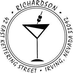 martini address stamp.
