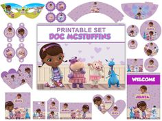 Doc McStuffins Birthday Party Package Printable Set via Etsy