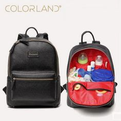 Colorland PU Leather Baby Bag Organizer Tote Diaper Bags Mom Backpack Mother Maternity Bags Diaper Backpack Large Nappy Bag (32755391440)  SEE MORE  #SuperDeals
