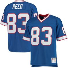 Men's Buffalo Bills Andre Reed Mitchell & Ness Royal Retired Player Replica Jersey #ad #jersey #nfl