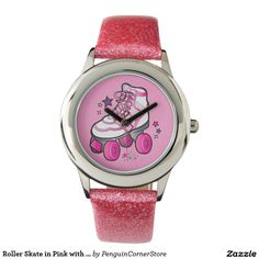 Roller Skate in Pink with Stars Watches