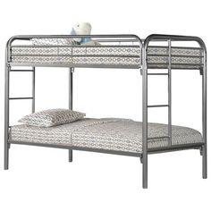 Hodedah Twin Over Twin Bunk Bed & Reviews | Wayfair