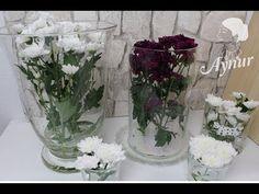 Die 22 besten bilder von glasvasen dekorieren flower arrangements floral arrangements und - Vasen dekorieren tipps ...