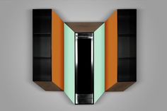 Kineticism IV, Wall Cabinet & true functional painting