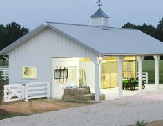 Dream Barn | Everything you need to plan and build the barn of your dreams                                                                                                                                                      More horse stables