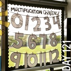 Day 121: Another incentive board in full swing to motivate my little mathematicians. We've started taking multiplication challenge quizzes each Friday to help our fact fluency. As the munchkins master each fact, they get to sign the giant number! #multiplicationchallenge #motivation #nomorewallspace #iteachthird #180daysinthelifeofateacher #teachersfollowteachers #teachersofinstagram