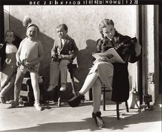 """Judy Garland taking a break from filming """"The Wizard of Oz"""", 1938"""