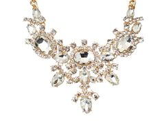 """""""Yasmin"""" Glass stone and crystal necklace - White Crown SocietyWhite Crown Society"""