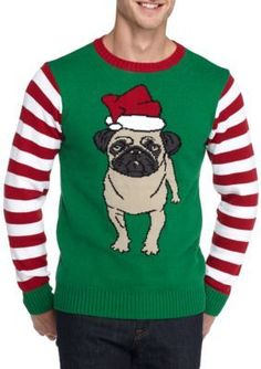 5c2e52c6fd Ugly Christmas Sweater Pug Sweater