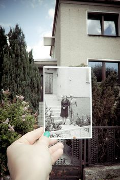 What a cool idea - Take a picture of a picture in the past in the present. Got that?