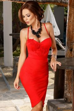 Lover Of Gorgeous Red Dress Outfit, Hot Dress, Dress Outfits, Beautiful Red Dresses, Sexy Dresses, Nice Dresses, Red Fashion, Holiday Fashion, Fashion Models