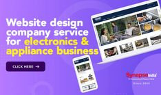 Create a profitable electronics & appliance online store with SynapseIndia.   Hire a professional WEBSITE DESIGN COMPANY for giving unique online identity to retail brand.   IMPROVE ECOMMERCE SALES and increase the company's profit easily. Electronic Appliances, Website Design Company, Professional Website, Ecommerce, Identity, Retail, Electronics, Store, Create