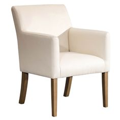 Complete your modern-styled dining room with the HomePop Lexington Dining Arm Chair for a look we know you'll love. Featuring a sturdy hardwood. Cream Dining Chairs, Faux Leather Dining Chairs, Solid Wood Dining Chairs, Dining Arm Chair, Upholstered Dining Chairs, Dining Room Chairs, Dining Table, Office Chairs, Kitchen Chairs
