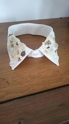 Retrouvez cet article dans ma boutique Etsy https://www.etsy.com/fr/listing/513222211/col-de-chemise-blanc-creme