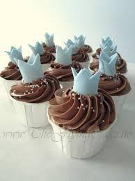Kroner til en liten prins Christening Cupcakes, Baby Christening, Baby Cupcake, Cupcake Cookies, Cap Cake, Cupcake Heaven, Baby Shower Cookies, Cakes For Boys, Pretty Cakes