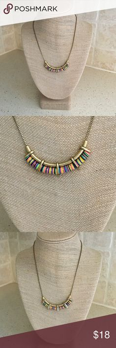 Stella & Dot - Wanderer Necklace Stella & Dot - Wanderer Necklace, fun colorful necklace.  Worn once, does show some tarnish from being outside of the box,  Original box included.  Stella & Dot only discounted with bundle pricing. Stella & Dot Jewelry Necklaces