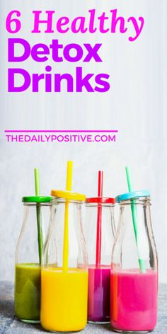 These detox drinks are an easy way to cleanse your body and aren't expensive like pre-made juice cleanses.
