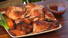 "Jamaican Jerk Chicken is one of my favorite chicken dishes. The smells of the herbs and spices mixing with the smoke are out-of-this-world. This is a pretty authentic recipe, and I show you a little trick to get that ""pimento wood"" smoky flavor."