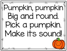 Miss Kindergarten: Phonics Fun! There are letters on each pumpkin for the students to identify the sounds!
