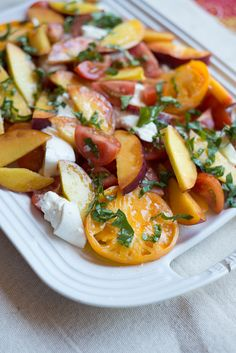 Let's Party Peach Caprese Salad from @bhg
