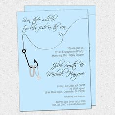 Awesome Photo of Fishing Wedding Invitations Fishing Wedding Invitations Engagement Party Invitation Couples Bridal Shower Two Less Fish In Wedding Shower Invitations, Engagement Party Invitations, Wedding Invitation Templates, Invites, Invitation Ideas, Dinner Invitations, Invitation Wording, Printable Invitations, Fishing Wedding