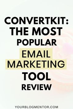 Convertkit is one of the most popular and highly recommended email marketing tool among bloggers. Read my honest review of this email list building tool to find out why it's the right choice for you.  #emailmarketing #convertkit #emaillistbuilding Email Marketing Tools, Business Marketing, Internet Marketing, Online Marketing, Online Business, How To Start A Blog, How To Find Out, Best Email, Email List