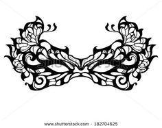 Illustration about Beautiful Masquerade Mask (Vector), Patterned design. Illustration of monochrome, masquerade, mask - 34573198 Masquerade Mask Template, Lace Masquerade Masks, Masquerade Party, Superhero Mask Template, Lace Mask, Making Faces, Diy Mask, Mask Making, Mask Design