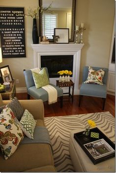 Living Room Color Designs Beauteous Interior Color Schemes Yellowgreen Spring Decorating  Living Inspiration